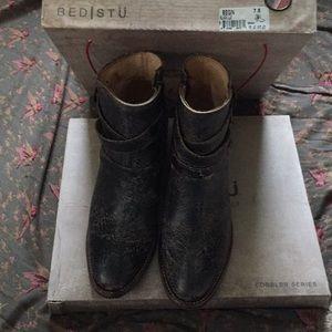 Bed Stu Shoes - Bed Stu Begin Black Lux 7.5
